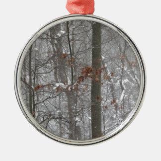 Winter Snowy Scene: Snow on the Trees Christmas Tree Ornament