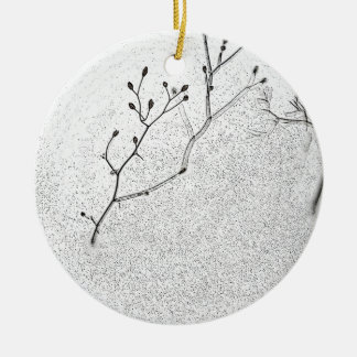 Winter Softness Round Ceramic Decoration