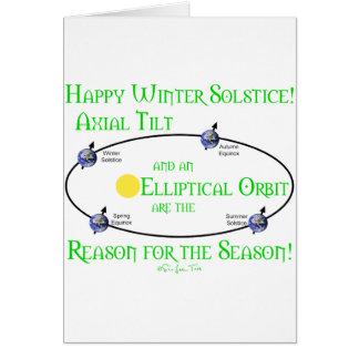 Winter Solstice Axial Tilt Cards