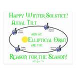 Winter Solstice Axial Tilt Postcard