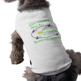 Winter Solstice Axial Tilt Sleeveless Dog Shirt
