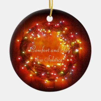 Winter Solstice Faery Lights Wreath Christmas Ornament