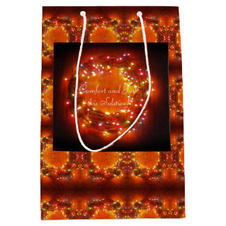 Winter Solstice Faery Lights Wreath Medium Gift Bag