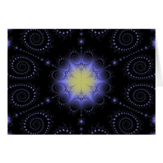 Winter Solstice Fractal Greeting Card
