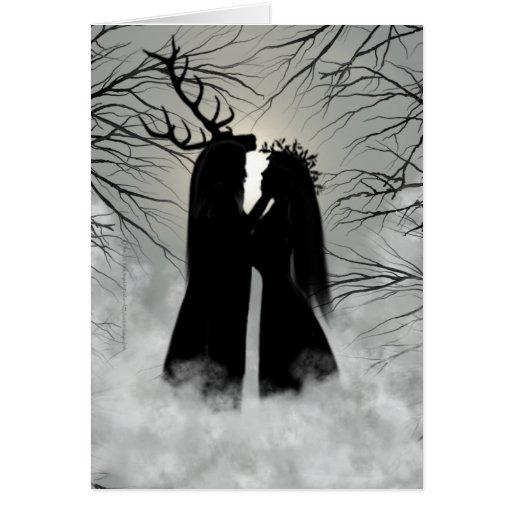 Winter Solstice God and Goddess Greeting Cards