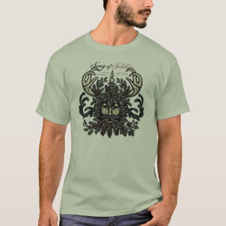 Winter Solstice Green Man T-shirt (White)