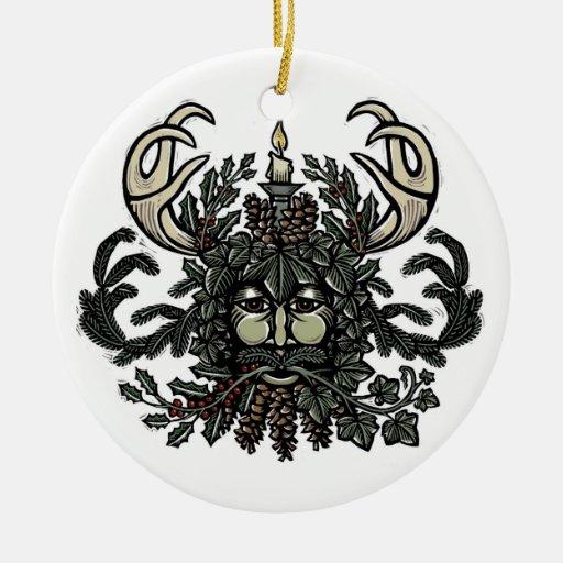 Winter Solstice Green Man Tree Ornament