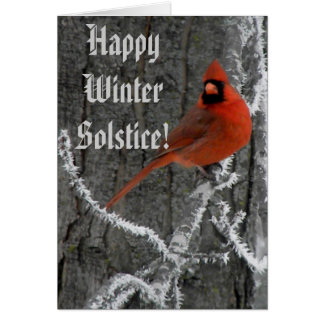 Winter Solstice Greetings Card