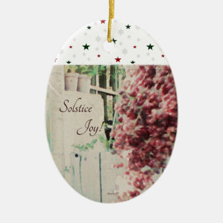 Winter Solstice Joy December Berries Christmas Ornament