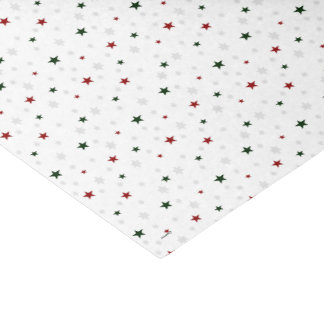 Winter Solstice Joy Red and Green Stars Tissue Paper