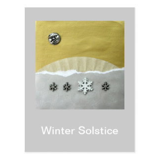 Winter Solstice Morning - collage Postcard