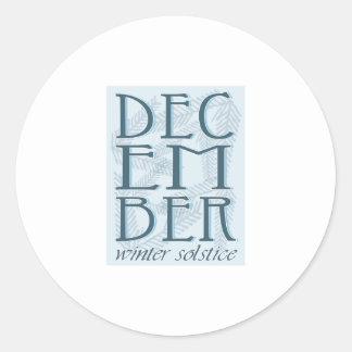 Winter Soltice Round Sticker