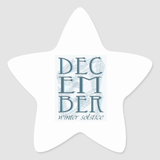 Winter Soltice Star Sticker