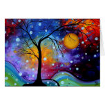Winter Sparkle Circle of Life MADART Painting Greeting Card