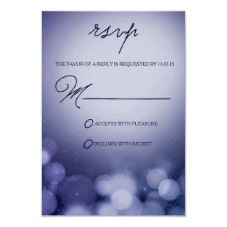 Winter Sparkle - Response Card / RSVP Card