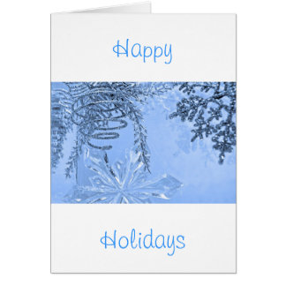 """""""Winter Spiral Blue"""" collection Card"""