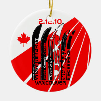 Winter Sport Fan Ornament Vancouver Canada