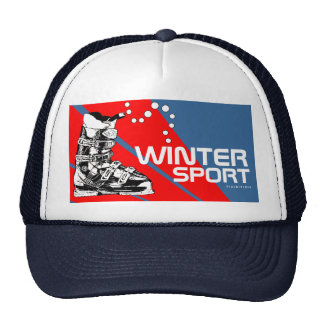 Winter Sport Gear Ski Boot Navy Hat