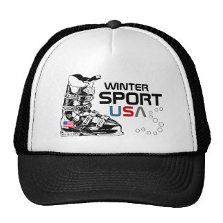 Winter Sport USA Team Ski Boot Black Hat