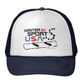 Winter Sport USA Team Snowboard Navy Hat
