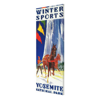 Winter Sports at Yosemite PosterYosemite, CA Canvas Print