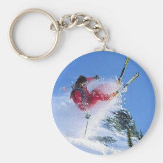 Winter sports, extreme ekiing keychain