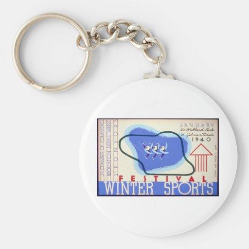 Winter Sports Festival Keychain
