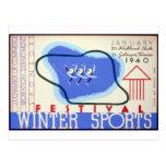 Winter Sports Festival Post Card
