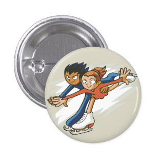 Winter Sports Figure Skaters Flair Button