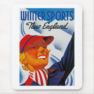Winter Sports in New England Mouse Pad