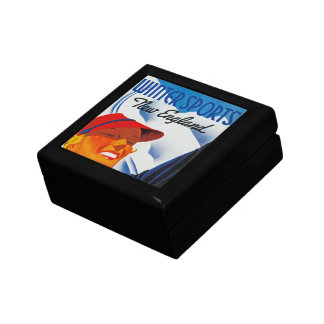 Winter Sports in New England Small Square Gift Box