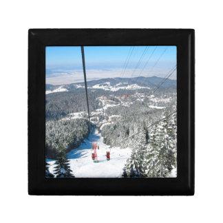 Winter sports in Piana Brasov, Romania Keepsake Box
