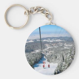 Winter sports in Piana Brasov, Romania Key Chains