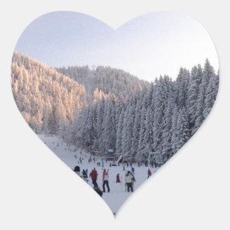 Winter Sports in Romania, Piana Brasov Heart Sticker