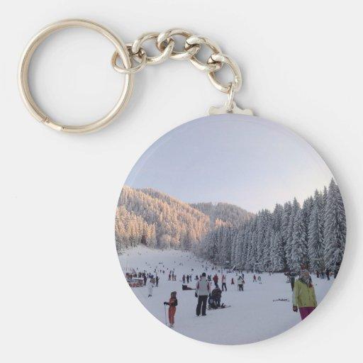 Winter Sports in Romania, Piana Brasov Keychain