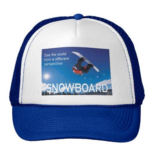 Winter Sports Poster,  Snowboard, Trucker Hat