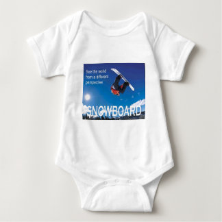 Winter Sports Poster,  Snowboard, Infant Creeper