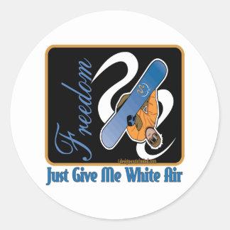 Winter Sports Round Sticker