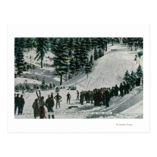 Winter Sports Scene at Charleston Mountain Postcard