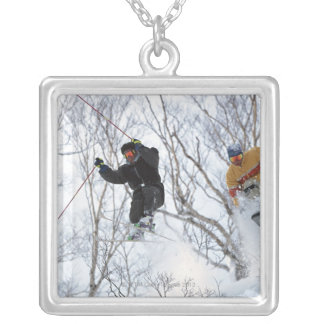 Winter Sports Silver Plated Necklace