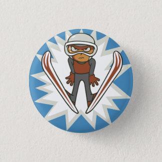 Winter Sports Ski Jumper Flair Pinback 3 Cm Round Badge