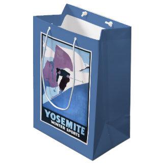Winter Sports Skiing Promotional Poster Medium Gift Bag