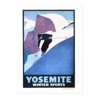 Winter Sports Skiing Promotional Poster Postcard