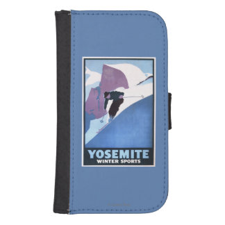 Winter Sports Skiing Promotional Poster Samsung S4 Wallet Case