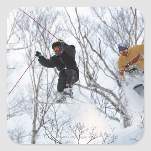 Winter Sports Square Sticker