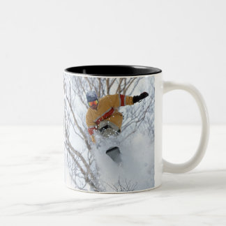Winter Sports Two-Tone Coffee Mug