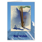 Winter Sports - Vintage ski scene Card
