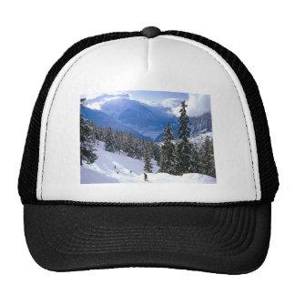 Winter sports, Winter in Romania Mesh Hat