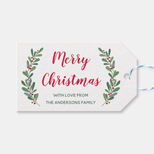 Winter Sprigs Christmas Gift Tag