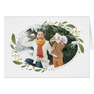 Winter Sprigs Christmas Photo Greeting Card